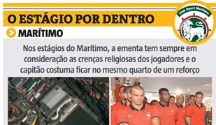 O estágio do Marítimo por dentro