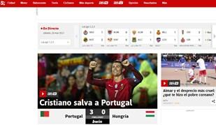 Histórico, insaciável, salvador: Eis Ronaldo visto lá fora após novo brilharete