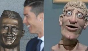 Busto de Ronaldo? Há quem pense que está parecido mas não é com ele