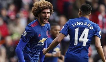 Afinal, não foi Fellaini quem marcou pelo Manchester United: foi Ibrahimovic... com peruca