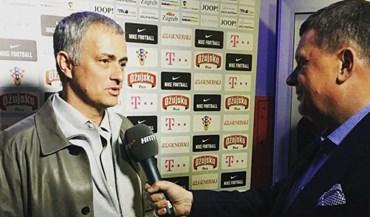 Mourinho foi ver o Croácia-Ucrânia  para... fugir à chuva de Manchester e rever amigos