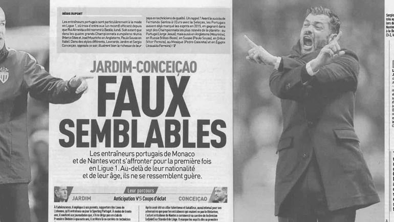 Leonardo Jardim vs. Sérgio Conceição: os 'gémeos falsos' em destaque no 'L´Équipe'