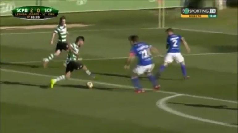 Já viu bem o golaço de Esgaio pelo Sporting B?