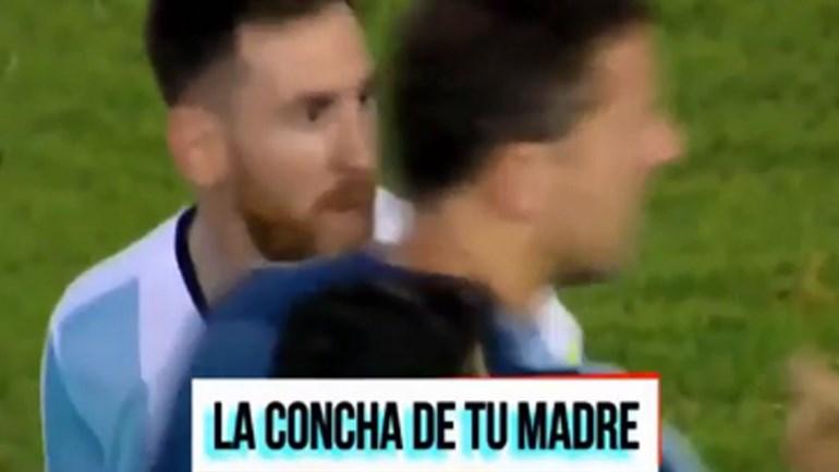 Messi insultou árbitro auxiliar e recebeu uma festinha em troca