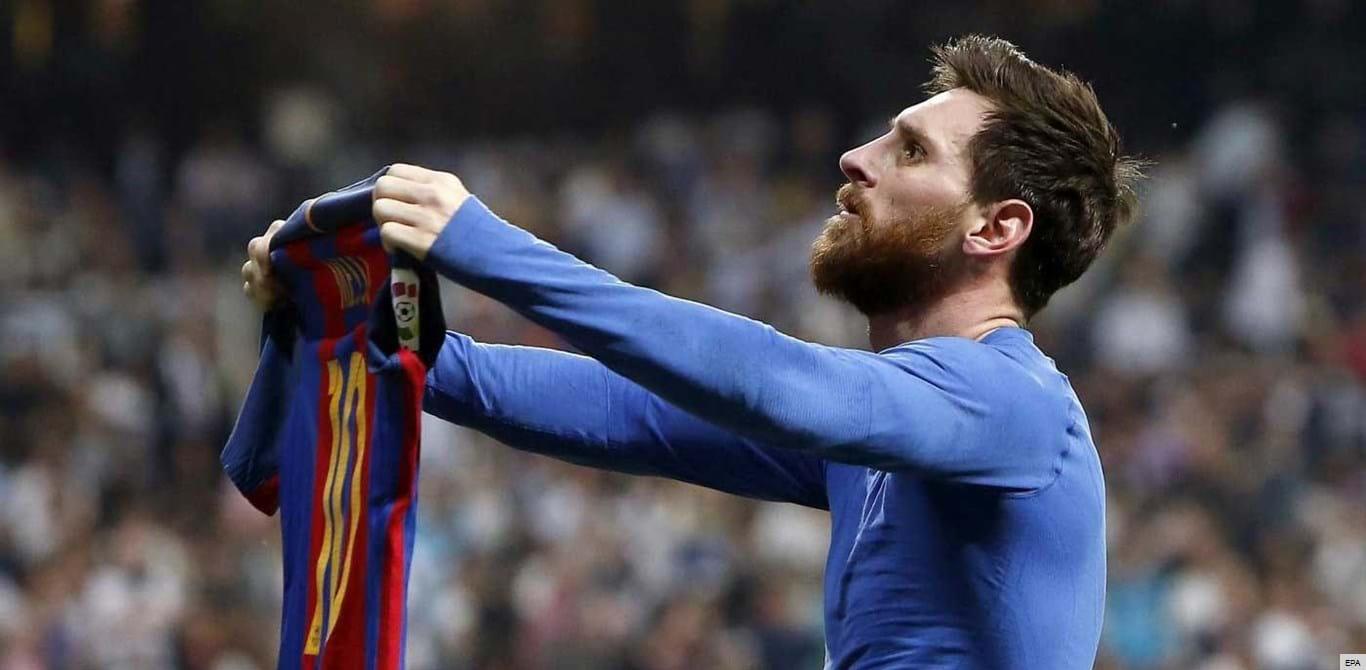 Messi teve uma razão para festejar como festejou
