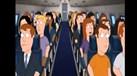 É isto que acontece quando o Canelas entra num avião