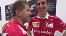 Vettel 'pica' rivais da Mercedes: «O carro funciona, hã?»