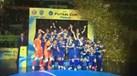 A festa de campeão do Inter Movistar após bater o Sporting