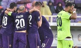 Milan empata com o último e Fiorentina aproxima-se