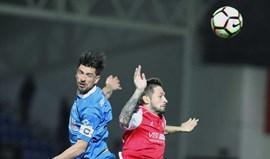 A crónica do Feirense-Sp. Braga, 0-1: Pezinho salvador equilibrou Simão