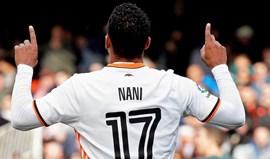 Nani volta aos convocados do Valencia após quase dois meses lesionado