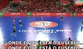 Adeptos do Sporting cantam onde é que está o Eusébio?
