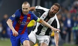 Iniesta confia na eficácia do Barcelona para afastar a Juventus