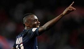Matuidi salva Paris SG com golo aos 90'+3