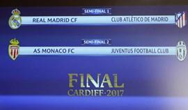 Dérbi madrileno nas 'meias' da Champions e Monaco mede forças com Juventus