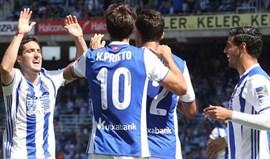 Real Sociedad vence Deportivo e sobe provisoriamente ao 6.º lugar