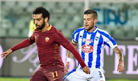 Roma goleia e sentencia descida do Pescara