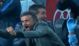 A reação no banco do Barcelona ao golo de Mascherano é imperdível