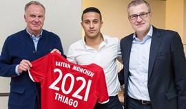 Bayern Munique renova com Thiago Alcântara até 2021