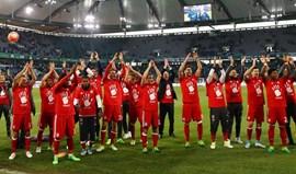 Renato Sanches entra e celebra o pentacampeonato do Bayern