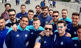 Plantel do Freamunde foi a Fátima antes da 'final' de domingo
