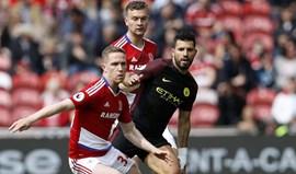 Middlesbrough arranca um ponto ao Man. City (2-2)