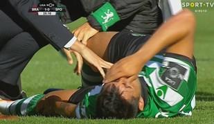 Alan Ruiz não escondeu dor após lesão em Braga