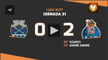 Os melhores momentos do Chaves-FC Porto (0-2)