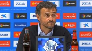 Distrair Luis Enrique numa conferência de imprensa não é grande ideia
