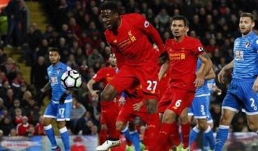 Liverpool deixa escapar triunfo ante o Bournemouth