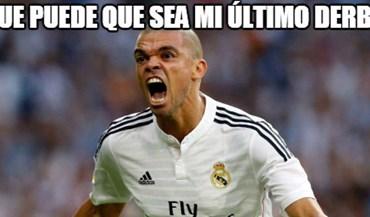 Foi Pepe quem saiu na 'rifa' (e de que forma!) nos memes do dérbi de Madrid