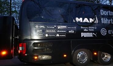 Assim ficou o autocarro do Borussia Dortmund