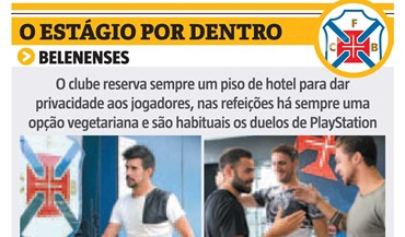 O estágio do Belenenses por dentro
