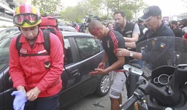 Confrontos entre adeptos do Benfica antes da partida para Alvalade