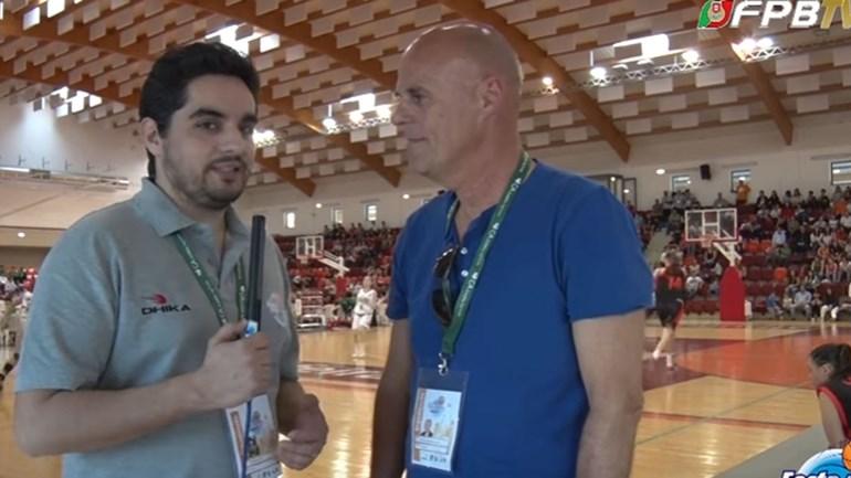 António Coelho explica a sua função na Festa do Basquetebol