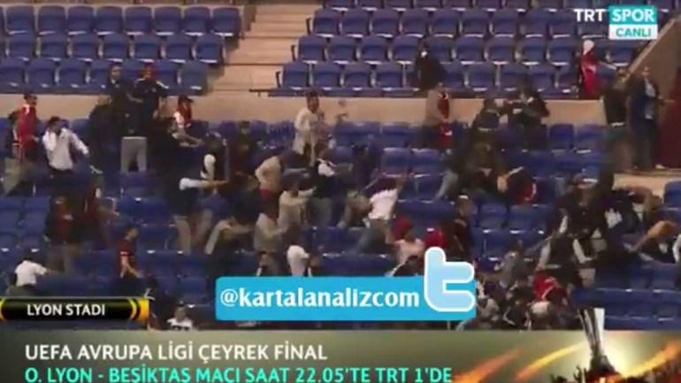 Graves confrontos entre adeptos antes do Lyon-Besiktas