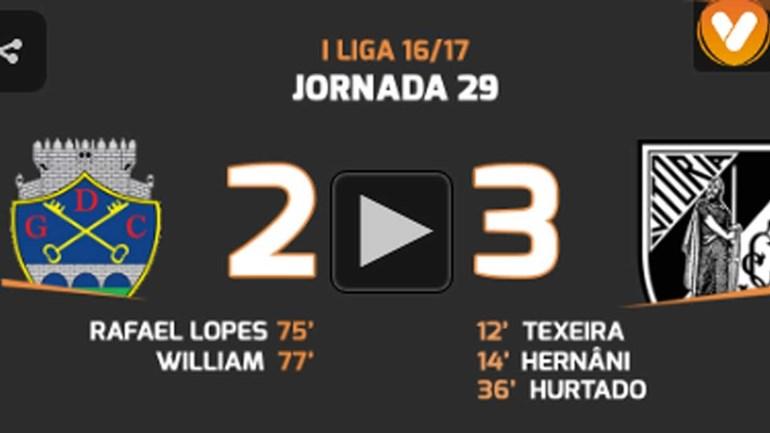 Os melhores momentos do Chaves-V. Guimarães (2-3)