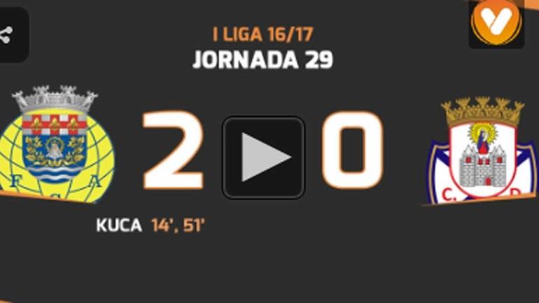 Os melhores momentos do Arouca-Feirense (2-0)