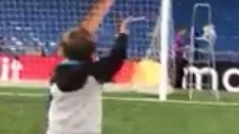 Brincadeiras do filho de Kroos ajudaram adeptos do Bayern a esquecer derrota
