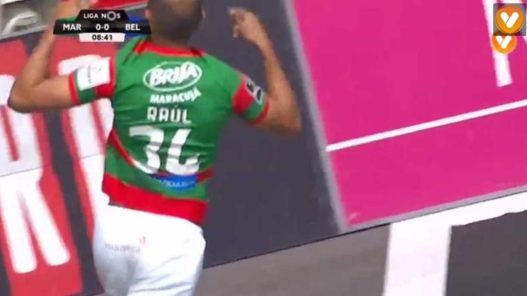 Raúl Silva teve cabeça para abrir o marcador nos Barreiros