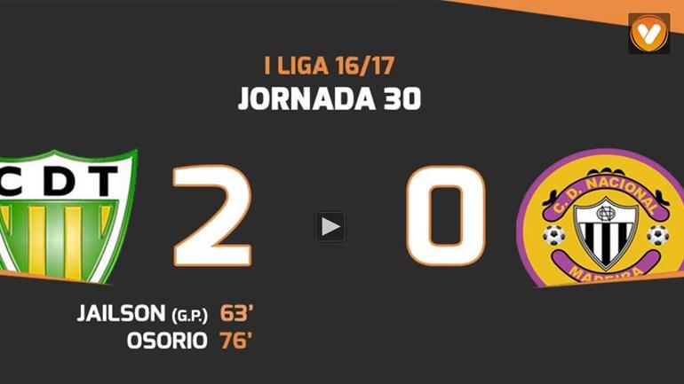 Os melhores momentos do Tondela-Nacional (2-0)