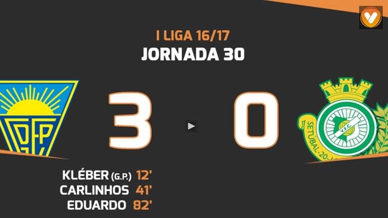 Os melhores momentos do Estoril-V. Setúbal (3-0)