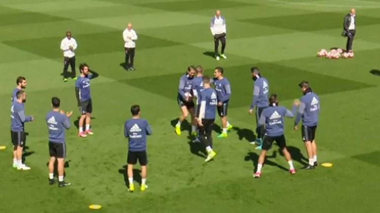 Desta vez, quem saiu na rifa no treino do Real Madrid foi...