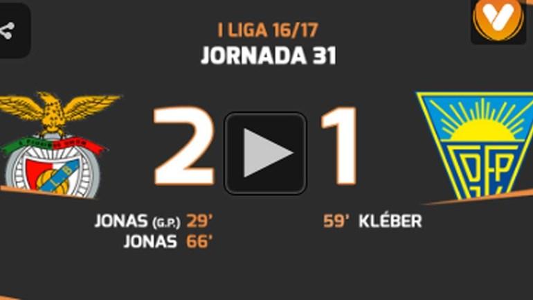 Os melhores momentos do Benfica-Estoril (2-1)