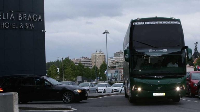 Assim foi a chegada do Sporting a Braga