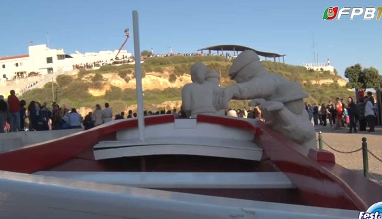 Uma perspetiva diferente da cerimónia de abertura da Festa do Basquetebol