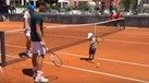 'Mini' Djokovic já começa a mostrar talento para o ténis