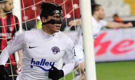 Turquia: Kasimpasa bate Galatasaray com bis de Castro