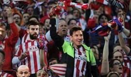 Nem Messi foi poupado... no At. Madrid-Real Madrid