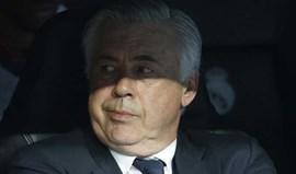 Ancelotti: «Toda a gente viu que o que aconteceu em Madrid não foi normal»